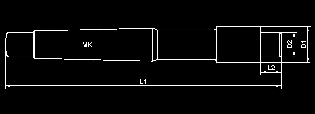 Skizze Flachsenker mit Morsekegel