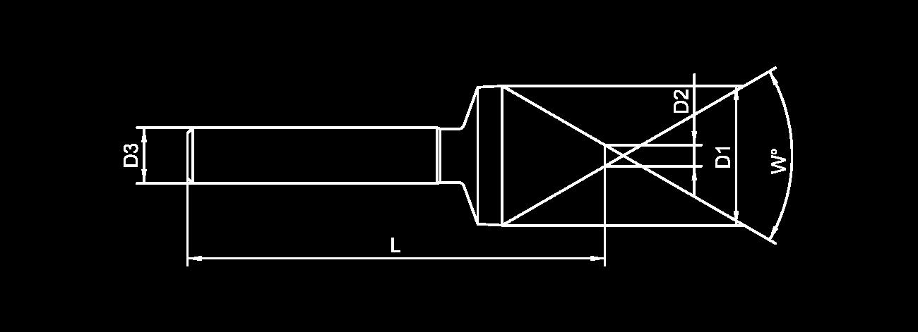 Skizze Kegelsenker mit Zylinderschaft