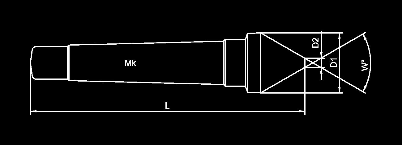 Skizze Kegelsenker mit Morsekegel